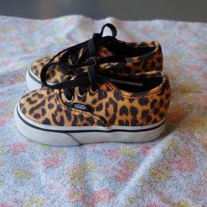 Vans cheetah print toddler